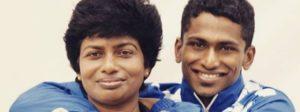 VJ Shantymol and her son Sajan Prakash