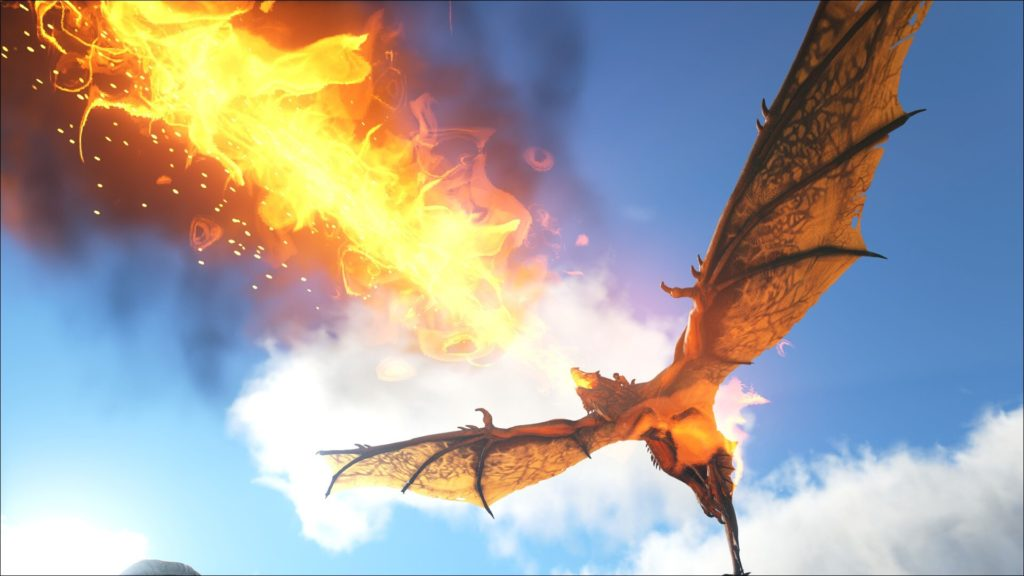 This dragon is typical of the creatures Mr. Blue and I encountered during our ARK: Survival Evolved games.